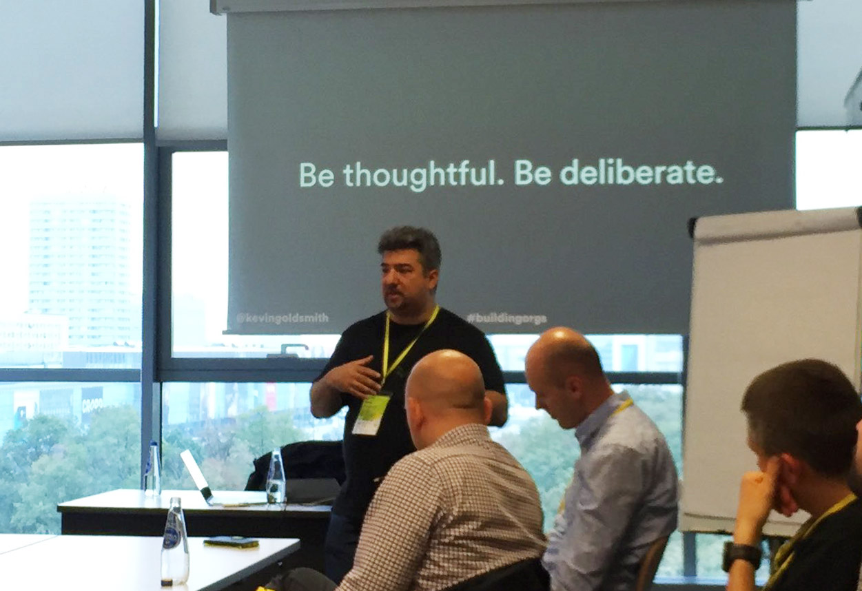 Kevin leading a workshop on organizational design to a group in Warsaw